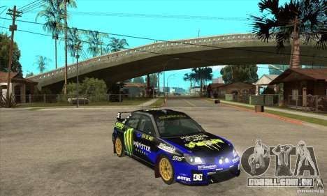 Subaru Impreza STi WRC wht1 para GTA San Andreas vista interior