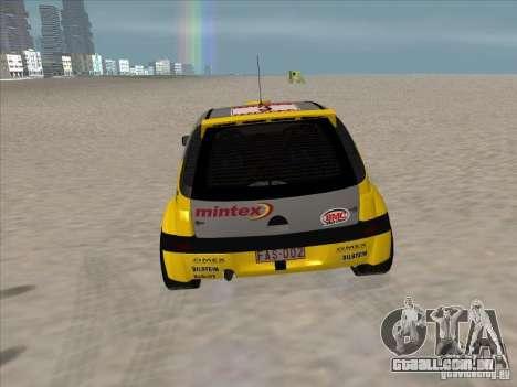 Opel Rally Car para GTA San Andreas vista direita