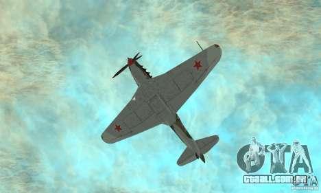 Yak-9, durante a II Guerra Mundial para vista lateral GTA San Andreas