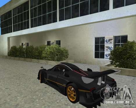 Pagani Zonda R para GTA Vice City vista direita