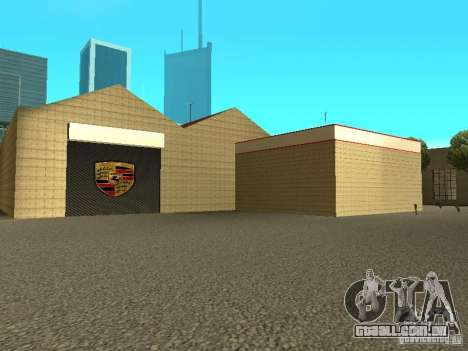 Porsche garagem para GTA San Andreas quinto tela