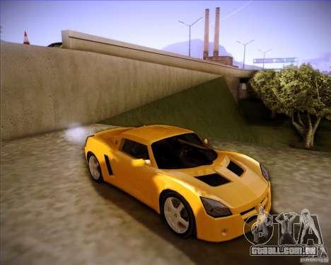 Opel Speedster para GTA San Andreas traseira esquerda vista