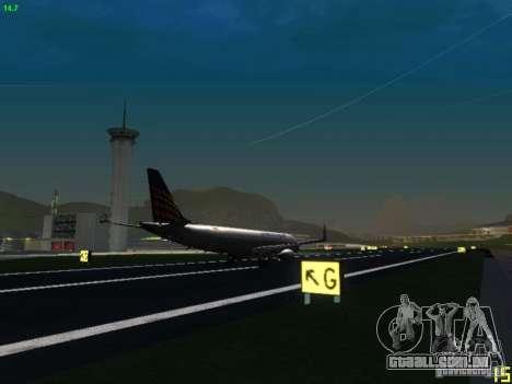 Embraer ERJ 190 Lufthansa Regional para GTA San Andreas vista traseira