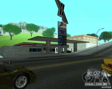 Novo Xoomer. posto de gasolina novo. para GTA San Andreas