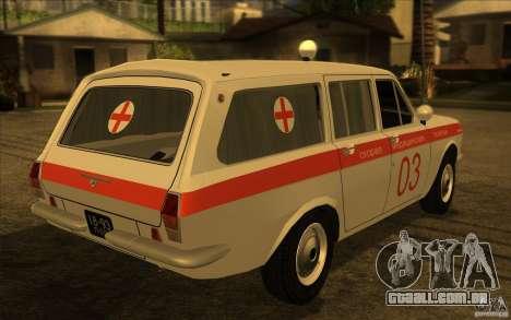Ambulância de Volga GAZ-24 03 para GTA San Andreas esquerda vista