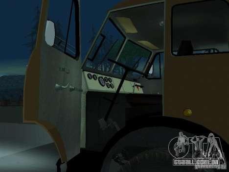Caminhão de descarga MAZ 503a para GTA San Andreas vista traseira