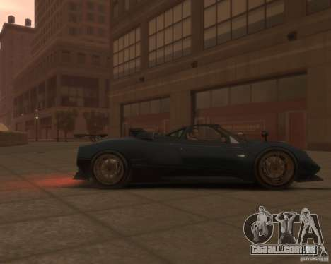 Pagani Zonda Tricolore para GTA 4 vista direita