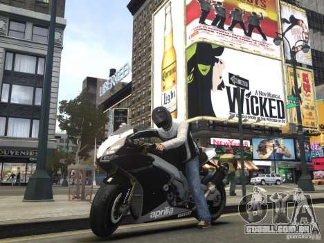 Aprilia RSV-4 Black Edition para GTA 4