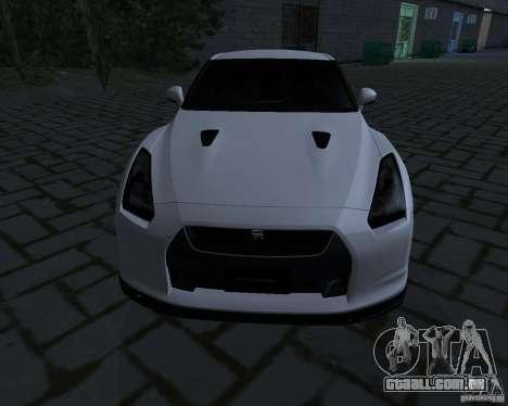 Nissan GTR-35 Spec-V para GTA San Andreas esquerda vista