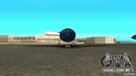 Boeing 727-200 Final Version para GTA San Andreas traseira esquerda vista