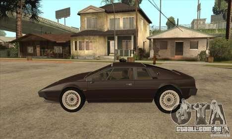 Lotus Esprit S3 para GTA San Andreas esquerda vista