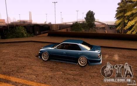 Toyota Chaser JZX100 para GTA San Andreas vista inferior