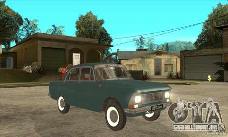 Moskvich 412 para GTA San Andreas vista traseira