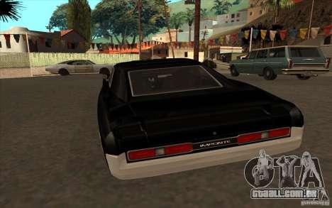 Duques de GTA4 para GTA San Andreas traseira esquerda vista