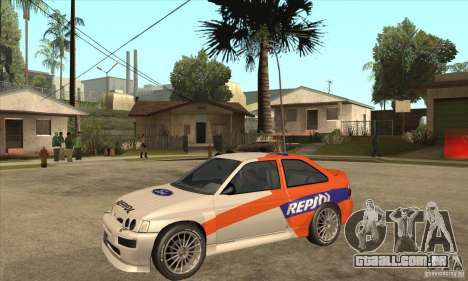 Ford Escort RS Cosworth para GTA San Andreas esquerda vista