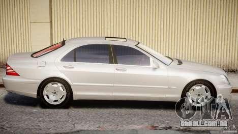 Mercedes-Benz W220 para GTA 4 esquerda vista
