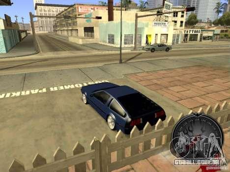 Delorean DMC-12 Drift para GTA San Andreas vista direita