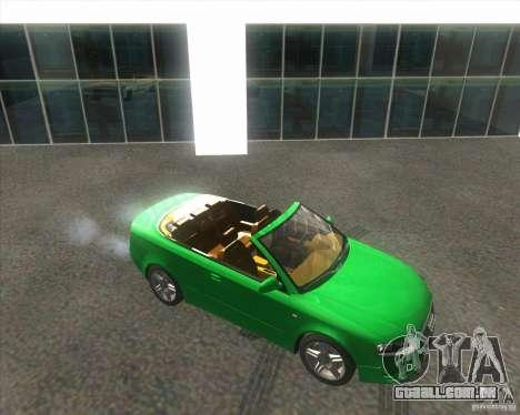 Audi A4 Convertible 2005 para GTA San Andreas vista traseira