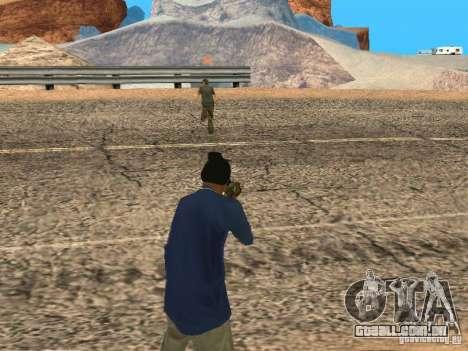 Sistema modificado pedov para GTA San Andreas por diante tela
