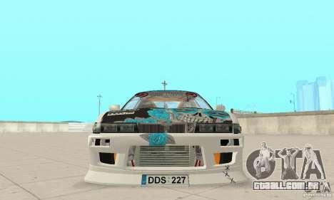 Nissan Silvia S13 NonGrata para GTA San Andreas vista traseira