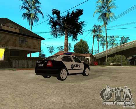 Skoda Octavia II 2005 SAPD POLICE para GTA San Andreas vista direita