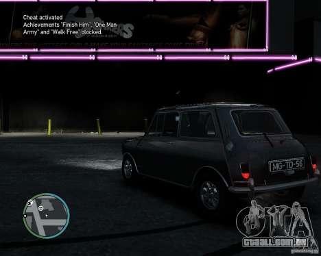 Austin Mini Cooper S para GTA 4 vista direita