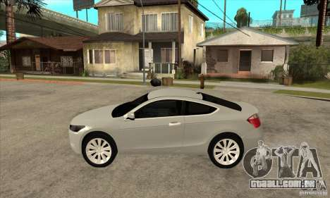 Honda Accord Coupe 2009 para GTA San Andreas esquerda vista