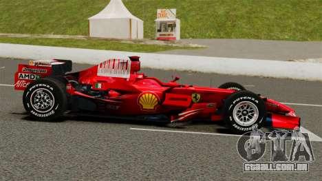 Ferrari F2008 para GTA 4 esquerda vista