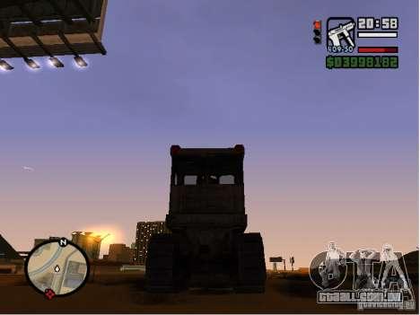 Bulldozer T 130 para GTA San Andreas vista direita