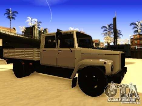 Fila dupla de GAZ 3309 para GTA San Andreas esquerda vista