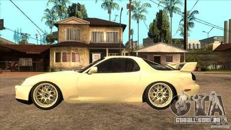 Mazda RX7 FD3S Type-R Bathurst para GTA San Andreas esquerda vista