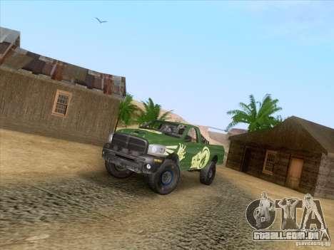 Dodge Ram Trophy Truck para GTA San Andreas vista traseira