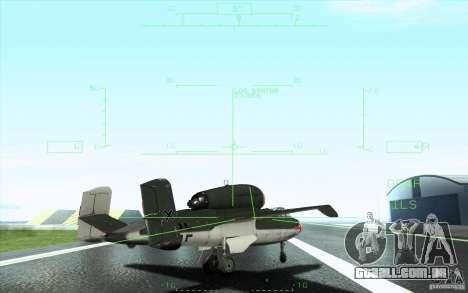 Henkel 162A Salamander para GTA San Andreas vista inferior