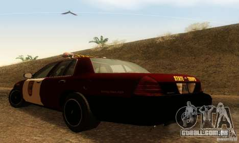 Ford Crown Victoria Minnesota Police para GTA San Andreas esquerda vista