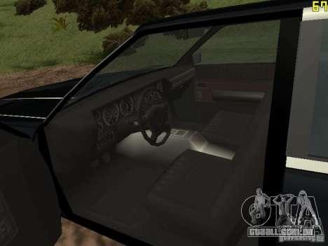 Romano é taxi do GTA 4 para GTA San Andreas vista direita