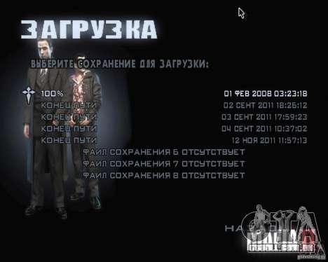 Telas de carregamento de Mafia 2 para GTA San Andreas por diante tela