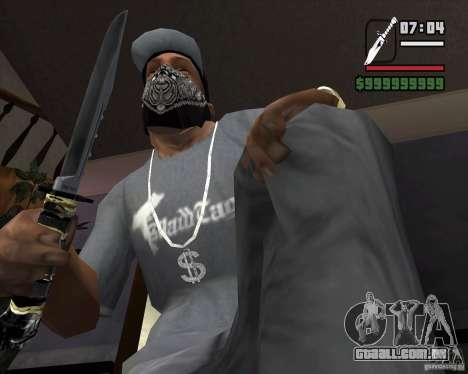 A faca do stalker # 2 para GTA San Andreas segunda tela