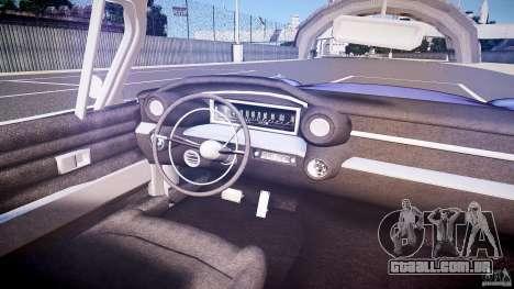 Cadillac Eldorado 1959 interior black para GTA 4 vista inferior