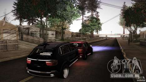 BEAM X5 Trailer para GTA San Andreas traseira esquerda vista