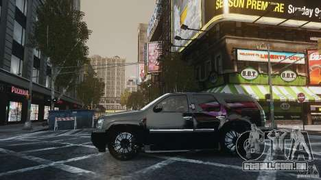 Chevrolet Tahoe tuning para GTA 4 traseira esquerda vista