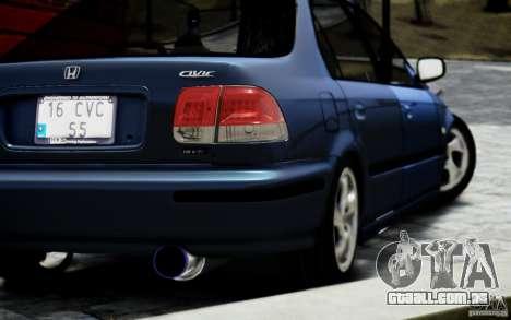 Honda Civic Vti para GTA 4 esquerda vista