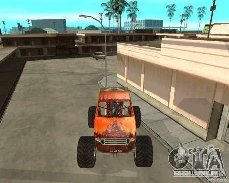 Mighty Foot para GTA San Andreas esquerda vista
