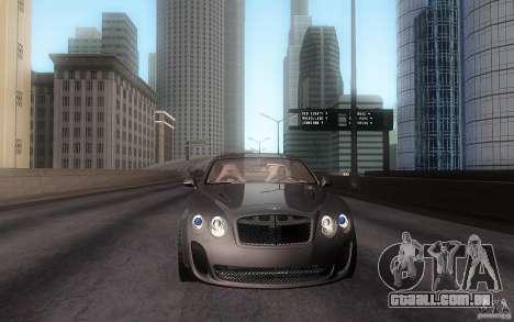 Bentley Continental SS para GTA San Andreas traseira esquerda vista