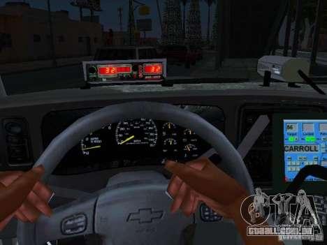 Chevrolet Suburban Los Angeles Police para GTA San Andreas vista direita