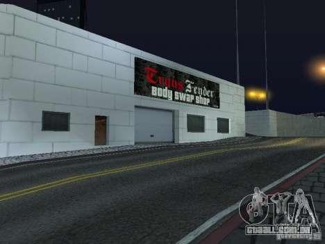 Carros novos de Wang Auto-salão de beleza para GTA San Andreas por diante tela