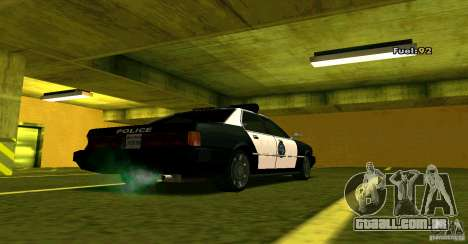 Sentinel Police LV para GTA San Andreas esquerda vista