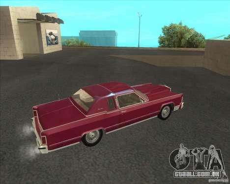 Lincoln Continental Town Coupe 1979 para GTA San Andreas esquerda vista