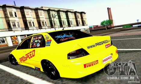 Mitsubishi Lancer Evolution VIII - ProSpeed para GTA San Andreas esquerda vista