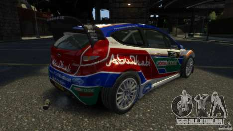 Ford Fiesta RS WRC para GTA 4 traseira esquerda vista