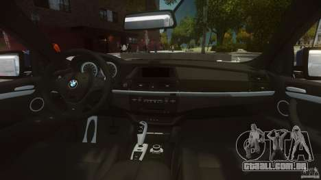 BMW Motorsport X6 M para GTA 4 vista direita
